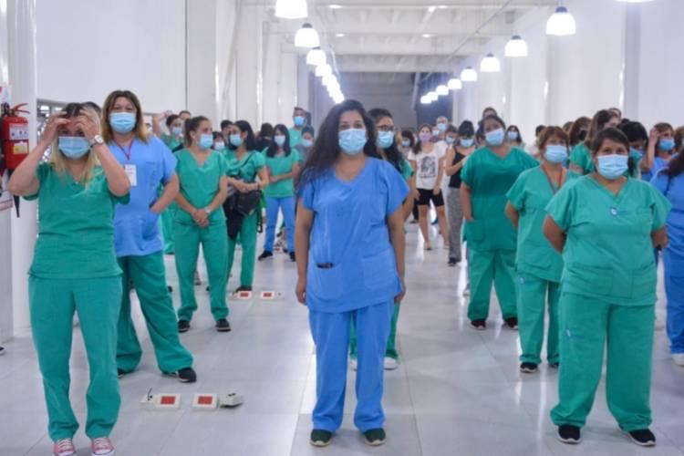 Egresaron los últimos pacientes del parque sanitario Tecnópolis
