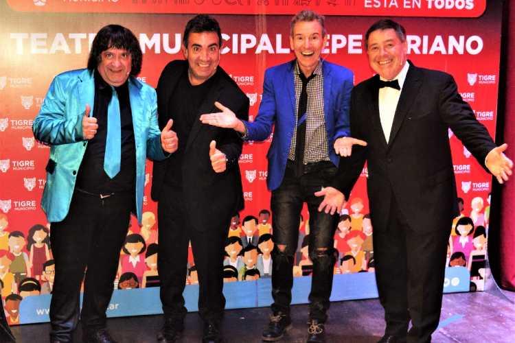 """""""Los cuatro fantásticos del humor"""" se presentan este fin de semana en el ciclo de shows virtuales de Tigre"""