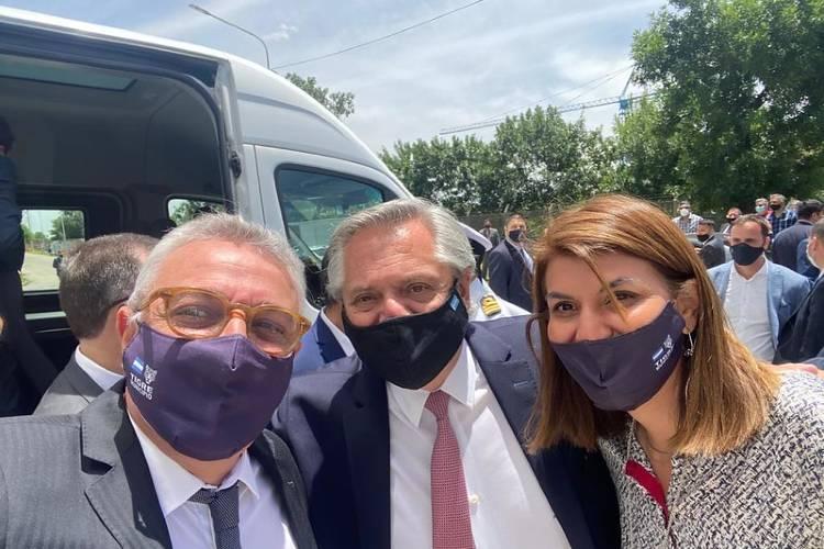 Julio Zamora acompañó a Alberto Fernández en la inauguración de la planta de pintura de Volkswagen en Pacheco