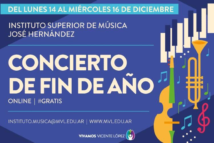 El instituto de música José Hernández dará un concierto online de fin de año