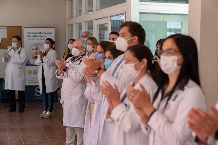 San Isidro reconoció a voluntarios que colaboraron con el sistema de salud durante la pandemia