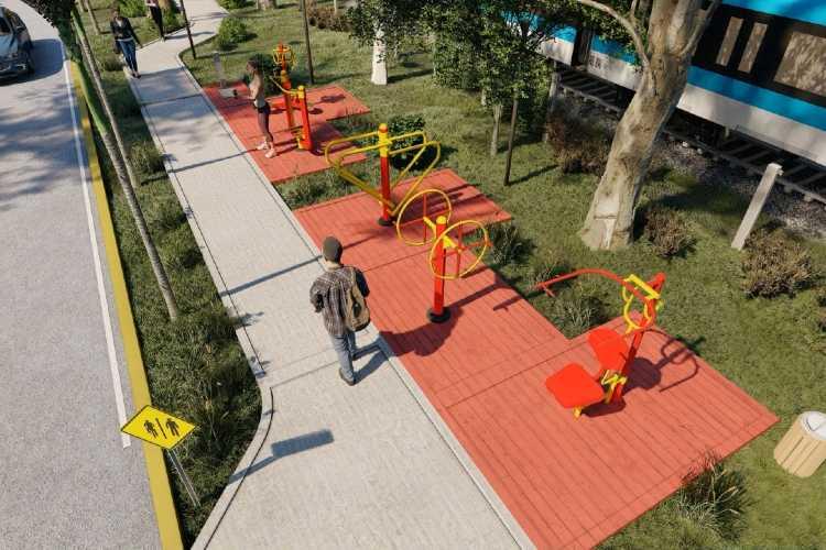 San Fernando comenzó con la construcción del Paseo en la calle García Mansilla