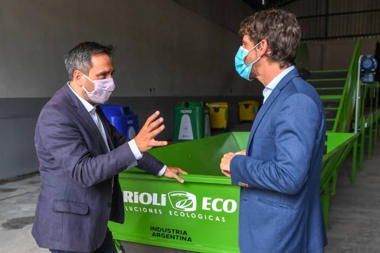 Andreotti y Cabandié presentaron las máquinas de la futura Planta de Reciclaje de San Fernando
