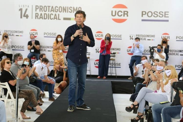 Gustavo Posse, destacó la necesidad de fortalecer el partido