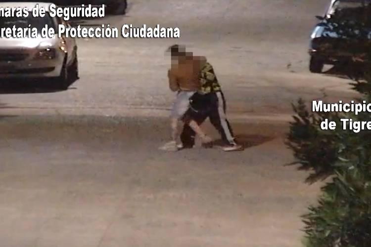 Las cámaras de Tigre permitieron detener a un hombre por golpear salvajemente a su pareja