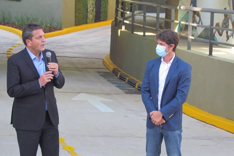 """Sergio Massa en San Fernando: """"Esta obra es una demostración de que cuando hay pasión por hacer y amor por la ciudad"""""""