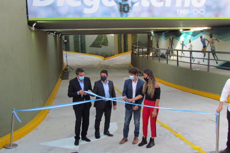 """Se inauguró en San Fernando el Túnel """"Diego Armando Maradona"""""""
