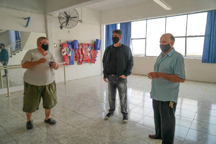 Jorge Macri recorrió las nuevas obras del club Laprida
