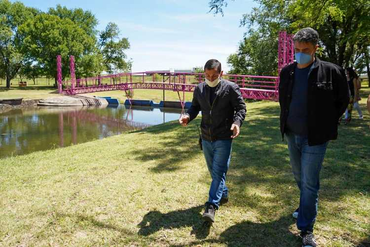 Jorge Macri junto a Javier Iguacel visitaron a emprendedores en Capitán Sarmiento