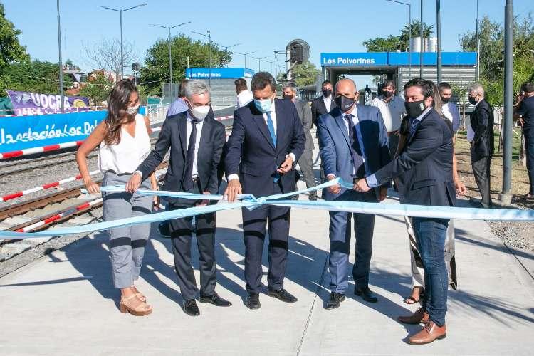 Inauguraron la renovada estación Los Polvorines del ferrocarril Belgrano Norte