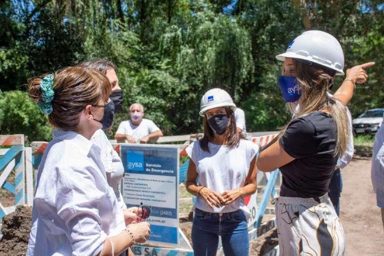 Malena Galmarini recorrió en Tigre la nueva obra de red de agua que beneficiará a 2500 vecinos del Barrio Parque Guazu-Nambi (Ex Soeva)