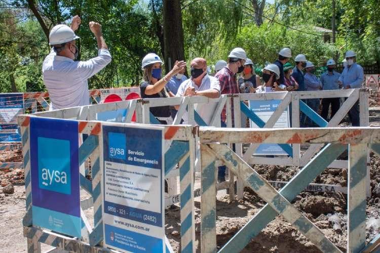 Malena Galmarini recorrió en Tigre la nueva obra de red de agua que beneficiará a 2500 vecinos del Barrio Parque Guazu-Nambi (Ex Soeva).