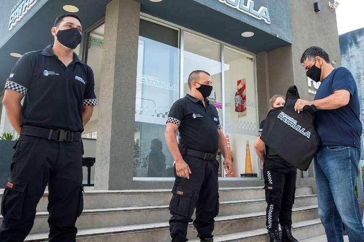 Vicente López: Nuevos chalecos antibalas para agentes de seguridad.