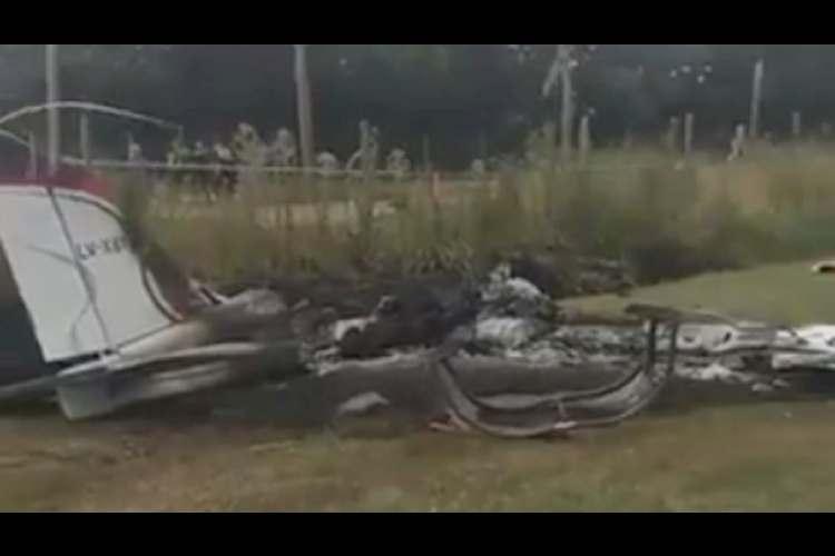 Dos personas murieron al caer una avioneta en el aeródromo de General Rodríguez.