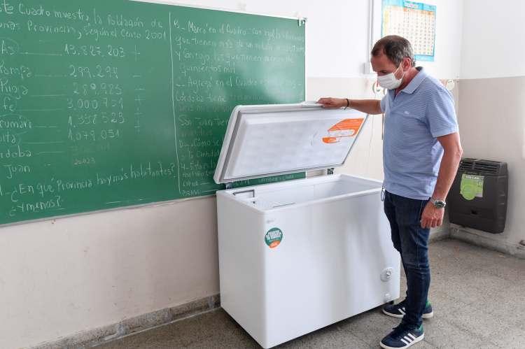 San Fernando prepara la Escuela N°1 para la vacunación contra Covid-19