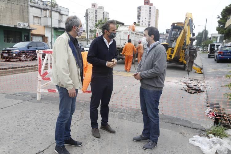 Moreira y Katopodis recorrieron las obras de la Av. Presidente Perón