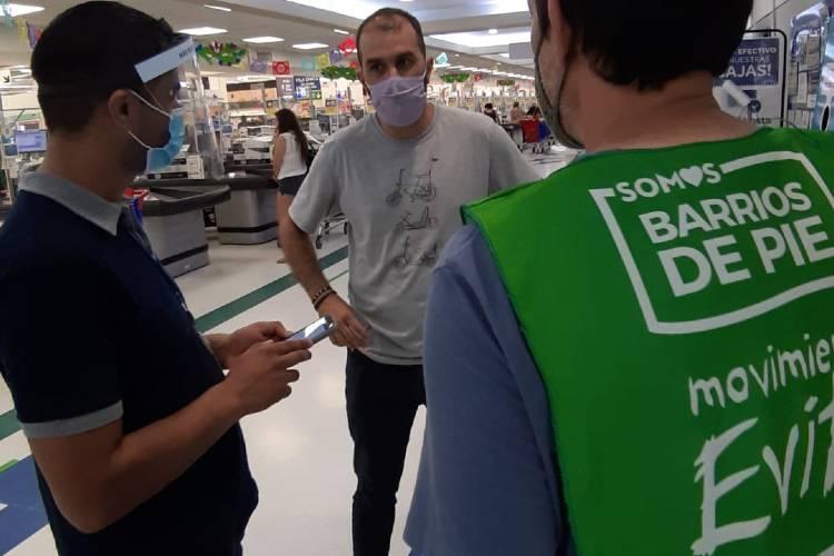 El Movimiento Evita y Somos Barrios de Pie verificaron precios en hipermercados de Vicente López