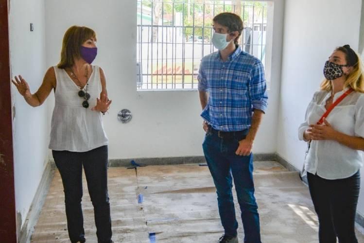 Juan Andreotti supervisó el avance de obra de renovación del Jardín Nº 931