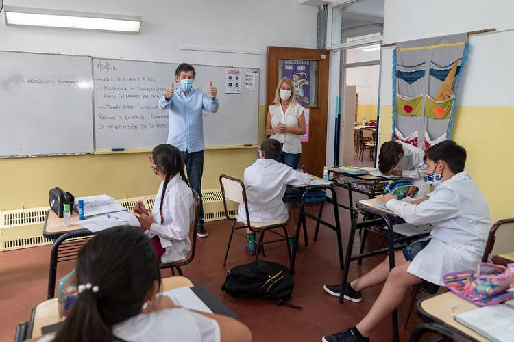 Empezaron las clases presenciales en San Isidro