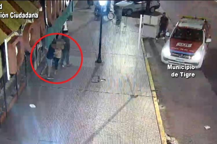 Cámaras de Seguridad: Evitan que un hombre agreda a su pareja en General Pacheco