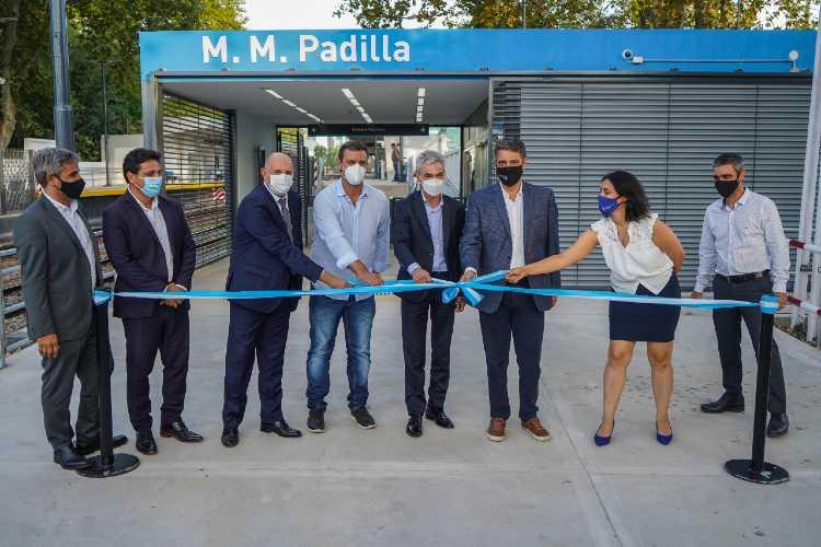 Se inauguró la renovación de la estación Padilla en Villa Martelli