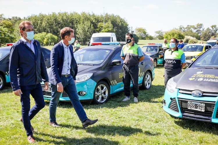 La Plata: Santilli y Garro presentaron nuevos móviles de prevención