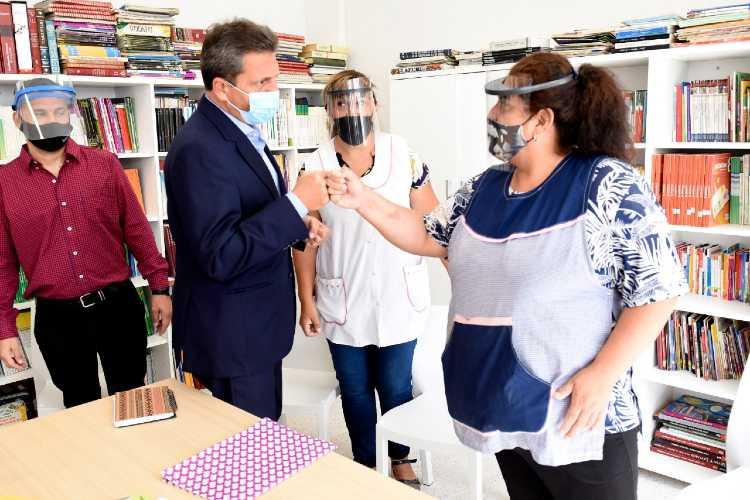Sergio Massa participó de la inauguración de una escuela en San Fernando