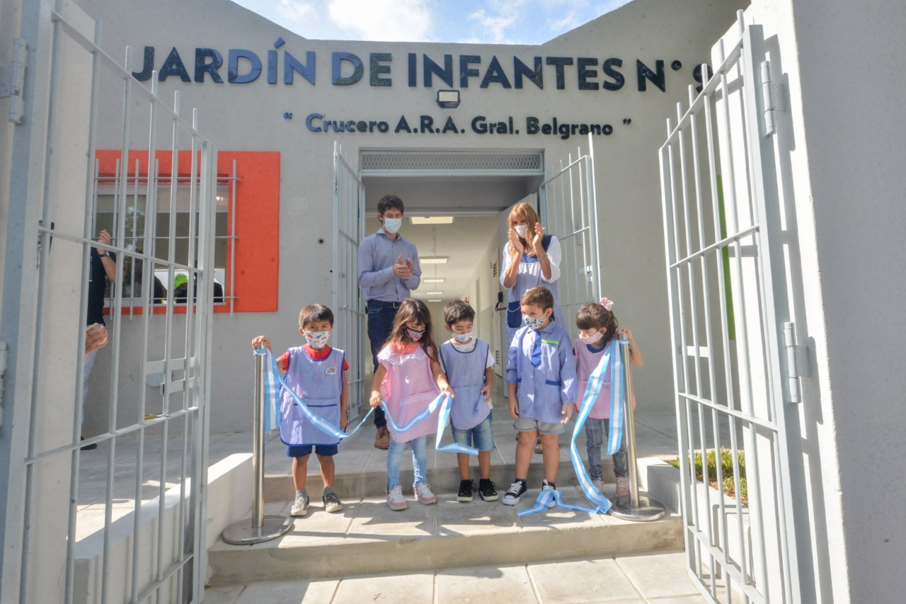 Juan Andreotti inauguró la renovación del Jardín Nº 931