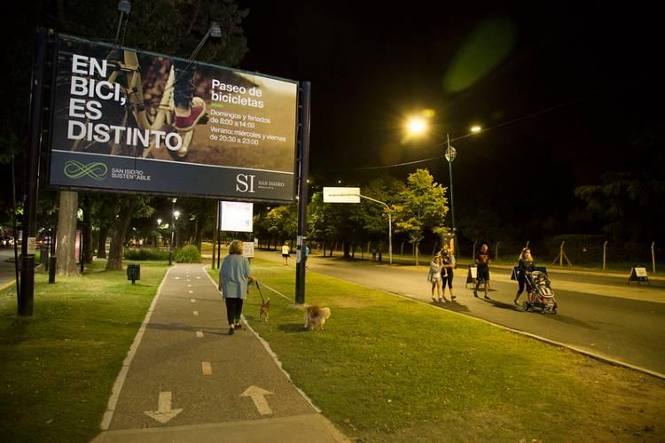 San Isidro: finalizó otra edición del paseo de bicicletas nocturno