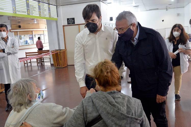 Julio Zamora y Nicolás Kreplak monitorearon los puntos de vacunación contra el Covid-19 en Tigre