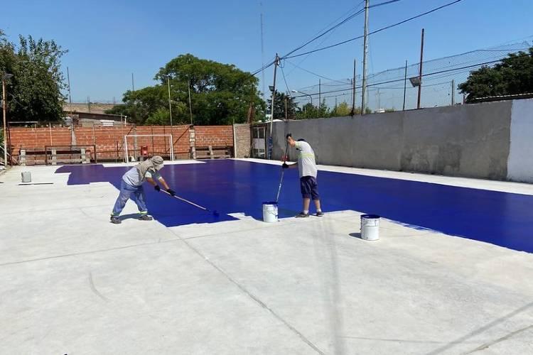 Finaliza la renovación de la cancha de fútbol del Club Social y Deportivo El Embrujo del barrio Almirante Brown