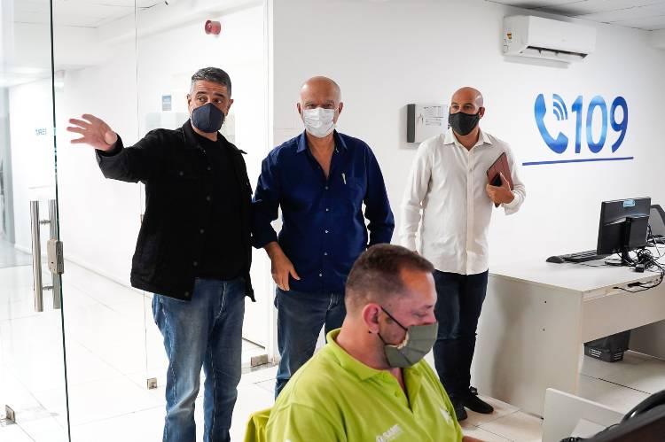 Jorge Macri recibió la visita del intendente de Lanús Néstor Grindetti