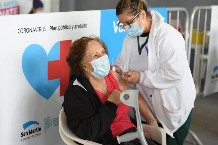 En San Martín ya se aplicaron 22.743 vacunas contra el Covid-19