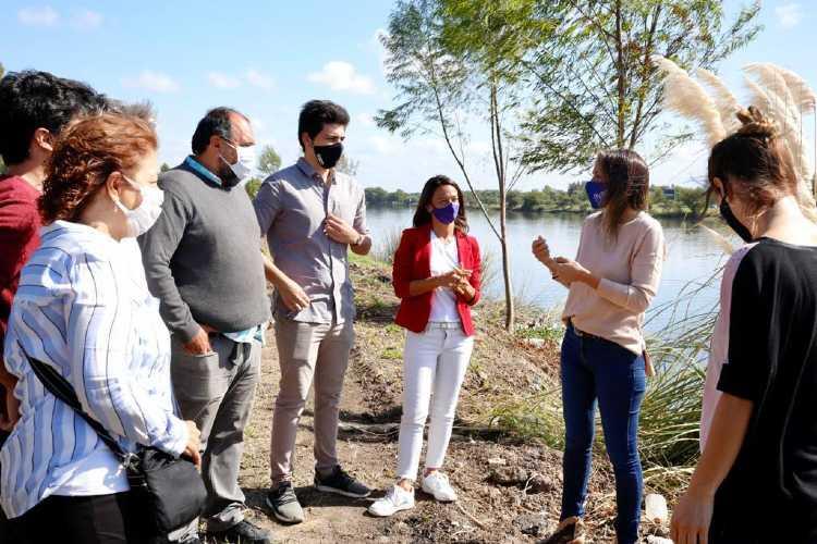 Galmarini y concejales del Fr Todos Tigre recorrieron la obra Colector cloacal Los Remeros