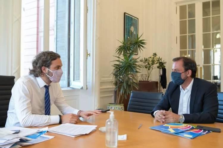 Cafiero y el intendente Sujarchuk se reunieron por la próxima Expo Escobar 2021