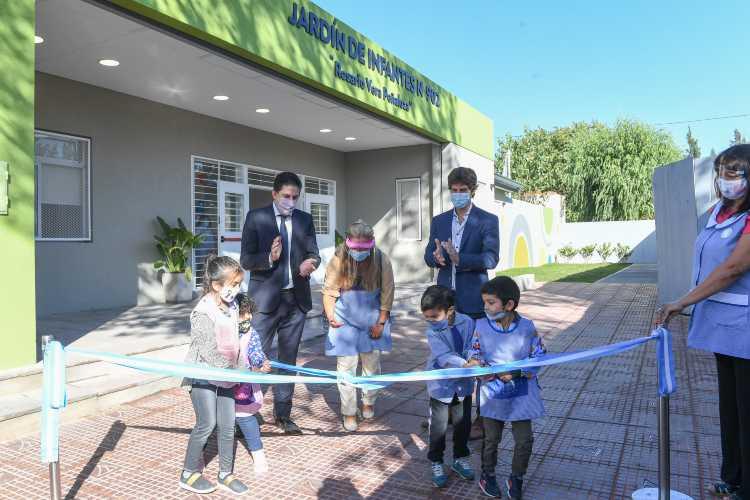 Juan Andreotti y Nicolás Trotta inauguraron el nuevo Jardín Nº 902 de San Fernando