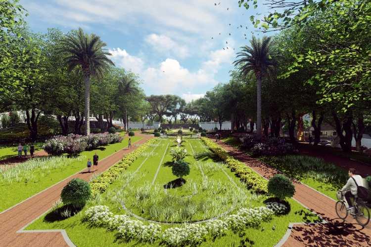 San Isidro comienza con la reconstrucción total de la plaza Mitre en el casco histórico