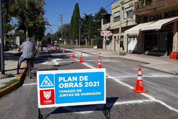 En Don Torcuato, el Municipio ejecuta nuevos trabajos de mantenimiento vial