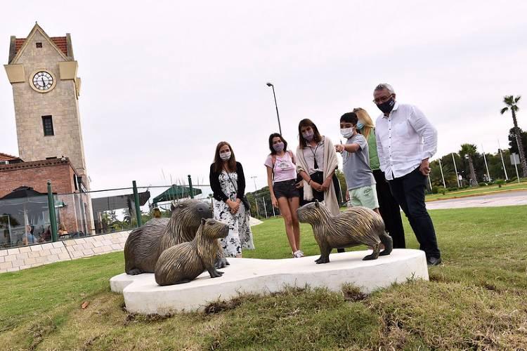 """obra artística """"Armonía"""" en homenaje a la fauna de Tigre"""