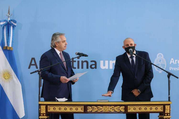 juramento de Alexis Guerrera como Ministro de Transporte