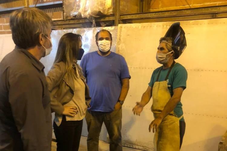 """Malena Galmarini visitó la Escuela de oficios """"Mejor Tigre"""""""