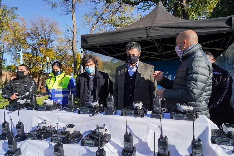 Vicente López incorporó nuevos equipos de comunicación para la patrulla municipal