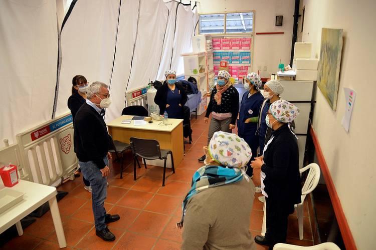 El intendente Julio Zamora supervisó la campaña provincial de inmunización contra COVID-19 en los vacunatorios de Benavídez y Don Torcuato
