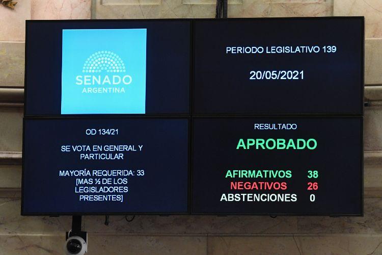 El Senado aprueba el proyecto de parámetros epidemiológicos para restringir actividades en la pandemia