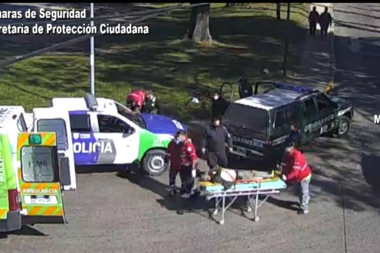 Las cámaras de Tigre permitieron asistir rápidamente a un hombre que fue atropellado en su bicicleta