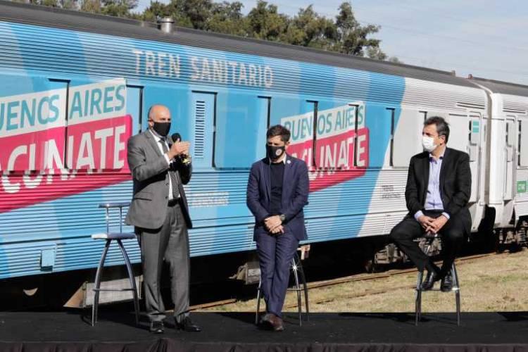 Presentaron la puesta en valor del tren sanitario que recorrerá la provincia para hacer hisopados y vacunación