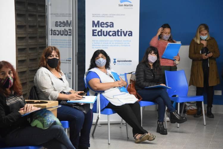 Las Mesas Educativas de San Martín acompañan a las escuelas y estudiantes durante la pandemia