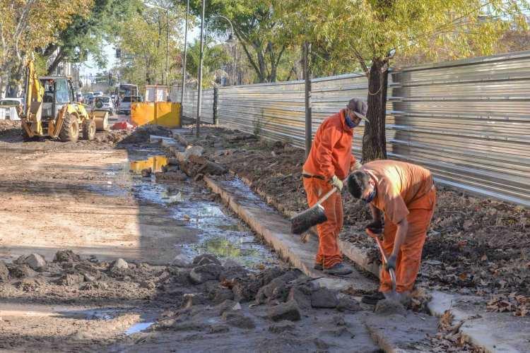 Avanza la  obra de renovación de la zona de Canal San Fernando