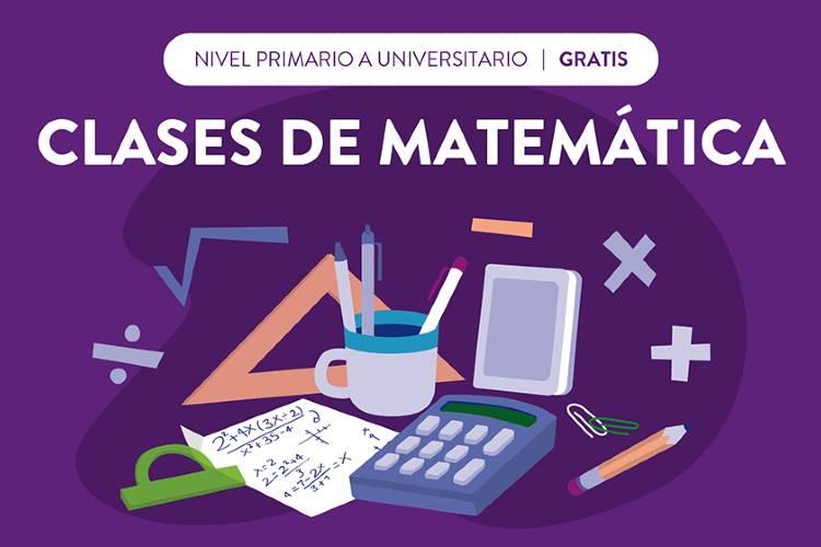 Vicente López brinda clases gratuitas de matemáticas