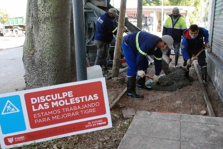 El Municipio de Tigre avanza con la construcción de veredas vecinales en Ricardo Rojas